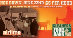 Airtime Trampoline & Game Parks Summer Hoe Down to Benefit Gleaners Food Bank
