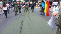 "Historic Uriel Saenz ""Resist Dress"" Travels to San Francisco Pride"