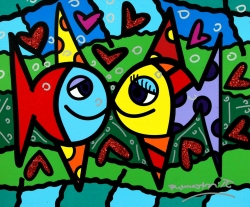Ocean Galleries Hosts Romero Britto for First Time Exhibition in Southern New Jersey