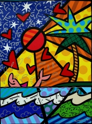 Romero Britto Spreads Message of Hope and Happiness with Stone Harbor, NJ Art Exhibition