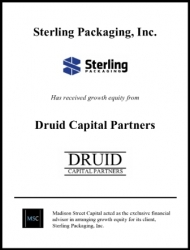 Madison Street Capital Arranges Growth Equity Facility for Sterling Packaging