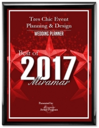 Tres Chic Event Planning & Design Receives 2017 Best of Miramar Award