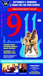 FireFighters Down 1st Annual Memorial Concert 9/11; Starring Flock of Seagulls with Guest Speaker Lou Gossett Jr.