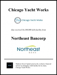 Madison Street Capital Arranges $4.1 Million Debt Facility for Chicago Yacht Works