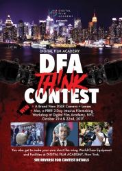 Digital Film Academy in New York Calls for Video Submissions for Its 1st Annual Short Film Competition, The DFA Think Contest