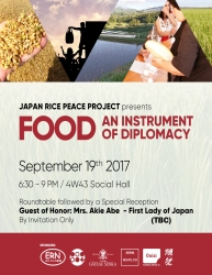 Mrs. Akie Abe, First Lady of Japan, Joins Academics, Food Activists and Food Industry Experts to Discuss Food and Peace in NYC