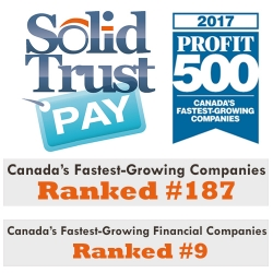 SolidTrust Pay Ranks No. 187 on the 2017 PROFIT 500