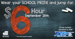 AirTime Trampoline & Game Park School Pride Day to Benefit JDRF