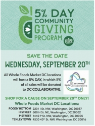 DC Arts and Humanities Education Collaborative's Arts and Humanities for Every Student Program to Benefit from Whole Foods Market District of Columbia Store Sales