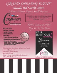 CJKollective Fashion Boutique Announces Their Grand Opening Ceremony in Baltimore (Federal Hill)
