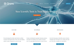 Qrons Inc. Announces Launch of New Website Website Offers Visitors Insight Into the Company's Innovative Multi-Disciplinary Approach to Traumatic Brain Injuries