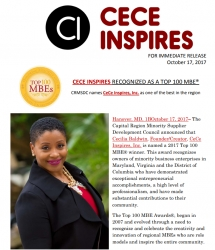 CeCe Inspires Recognized As a Top 100 MBE