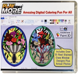 New PlayMore® Digital Color Art Library Gift Item Encourages Creative Art Activity in Children Using Microsoft Paint 3D