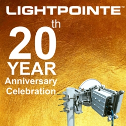 LightPointe Wireless Kicks Off Its 20th Year Anniversary Celebration with Special Incentives on AireLink 80 GHz Point to Point Radios