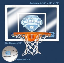 NCAA-Licensed Commemorative UNC Basketball Backboard Now on Sale