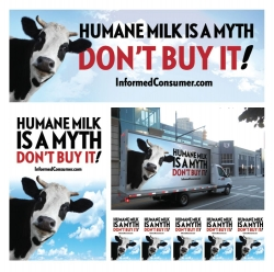 Billboards Call Attention to Dairy Cruelty