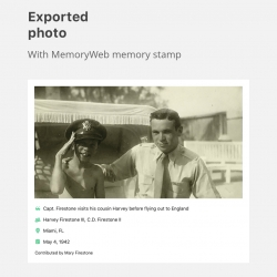 MemoryWeb Revamps Memory Stamp Feature That Lets Families and Genealogists Tie Details to Photos, Forever