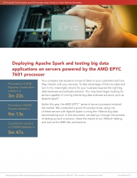 Principled Technologies Conducts Proof-of-Concept Study of AMD EPYC Processor-Powered Servers Running Apache Spark for Big Data Analysis