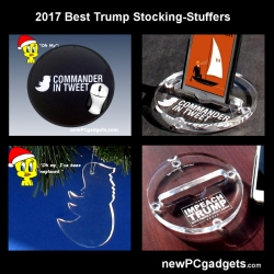 newPCgadgets Introduces the 2017 Presidential Stocking-Stuffers and Gag Gifts