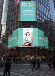 Anita Iskenderian Highlighted on the Reuters Billboard in Times Square and Recognized as One of the Top Ten Women of the Year by Strathmore's Who's Who Worldwide