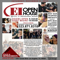 EI, School of Professional Make-Up Open House Event Promises Inspiration to Future Makeup Artists