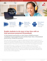 Principled Technologies Finds That Chromebooks Powered by Intel Celeron N3450 Processors Can Save Time Doing Media-Focused Classroom Tasks