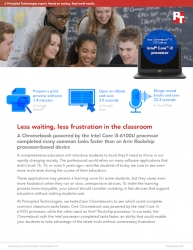 PT Proves That Many Classroom Tasks Take Less Time with a Chromebook Powered by an Intel Core i3 Processor Than with a Chromebook with an Arm Rockchip Processor