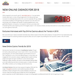 New Casinos Product News: Releasing Market Interviews About 2018