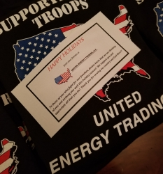 United Energy Trading Gives Back to US Troops Overseas