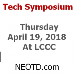 NEOTD.com Hosts the 2018 Tech Symposium 4/19/2018 at LCCC - Elyria, OH
