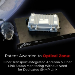 Optical Zonu Awarded Patent for Antenna and Propagation Status Monitoring in GPS Over Fiber Optic Transport