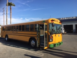 A-Z Bus Sales Introduces the New 2018 Blue Bird All American Type D Electric School Bus Ride and Drive Events Throughout California