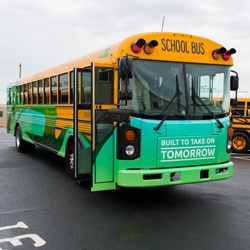 The All-New Zero Emissions Blue Bird All American School Bus Heads to Northern California as A-Z Bus Sales Wraps Up Their Ride and Drive Event