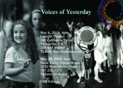 "VOENA Spring Concert Season, ""Voices of the Yesterday"""