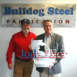 U.S. Congressman Jody Hice Visits Bulldog Steel Fabrication