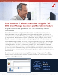 Principled Technologies Releases Study Comparing Server Migration with Dell EMC OpenManage Essentials to a Manual Approach