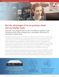 Principled Technologies Compares Management of an On-Premises Dell EMC Private Cloud Solution to Management of an Amazon Web Services (AWS) Public Cloud