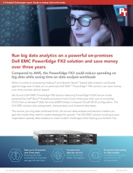 Principled Technologies Publishes Report Comparing Three-Year Total Cost of Ownership of an On-Premises Dell EMC PowerEdge FX2 Solution to Amazon Web Services