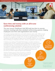 Principled Technologies Measures the Time Required for the Lenovo ThinkSmart Hub 500 to Complete Common Tasks Compared to Traditional Conferencing Platforms