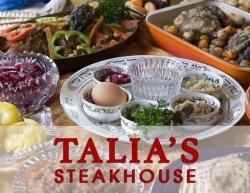 NYC Kosher Restaurant, Talia's Steakhouse & Bar, Will Serve Prepaid Glatt Kosher Passover Seders, Chol Hamoed & Yom Tov Meals During Jewish Pesach Holiday
