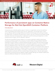 PT Explores the Scalability of a Software-Defined Storage Solution Using Container-Native Storage for Red Hat OpenShift Container Platform and HGST Ultrastar Storage
