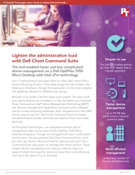 Dell Client Command Suite Can Save Administrative Time for Desktop Fleets, Principled Technologies Finds