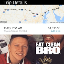 NJ-Based Meal Prep Company Eat Clean Bro Pays for the $1,600 Uber Ride