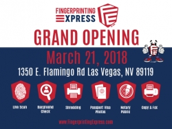 Fingerprinting Express Gives Back with Its Culture to Care™ Program; Launches Fourth Nevada Location, March 21