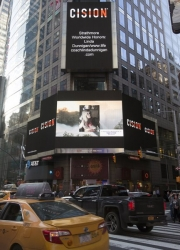 Life Coach Linda Dunnigan Showcased on the Famous Reuters Billboard in Times Square, New York City by Strathmore's Who's Who Worldwide Publication