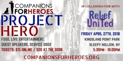 Relief Team United Hosts Fundraiser for Companions for Heroes April 27th at Kingsland Park in Sleepy Hollow, NY