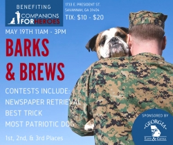 "Georgia Land & Cattle Presents ""Barks & Brews,"" a Fundraising Event Supporting ""Companions For Heroes"" on Armed Forces Day in Savannah, Georgia"