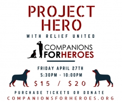 Fundraising Event This Weekend in Sleepy Hollow to Support Companions For Heroes