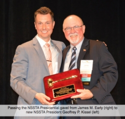 Geoffrey P. Kissel Installed as the New President at NSSTA