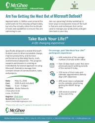 "McGhee Productivity Solutions to Host ""Take Back Your Life!"" Program on Personal Productivity in Orange County, CA"